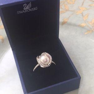 Swarovski crystal nude ring